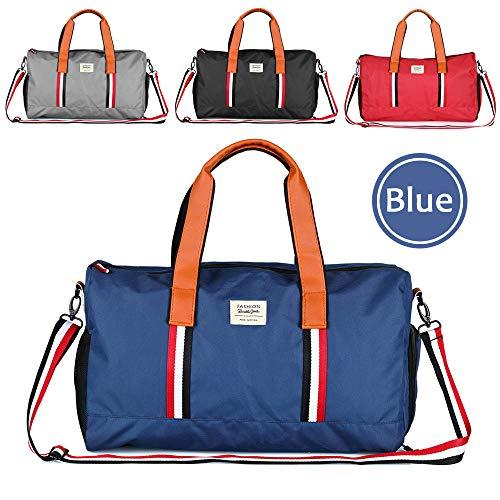 Hotrose Sporttasche Handgepäck mit Schuhfach Trainingstasche Fitnesstasche Gym-Tasche Sporttasche hochwertige Reisetasche Groß Schultergurt Herren und Damen Dunkelblau