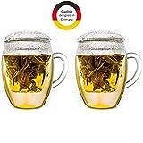 Creano Teeglas All in one mit Filter und Deckel im