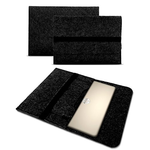 Sleeve Hülle für HP Probook 450 G6 Tasche Notebook Cover Filz Case Laptop Schutzhülle 15,6 Zoll Universal, Farbe:dunkel Grau