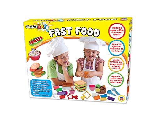 Teorema 63994 - PlastiArt Fast Food con 8 Colori di Plastilina