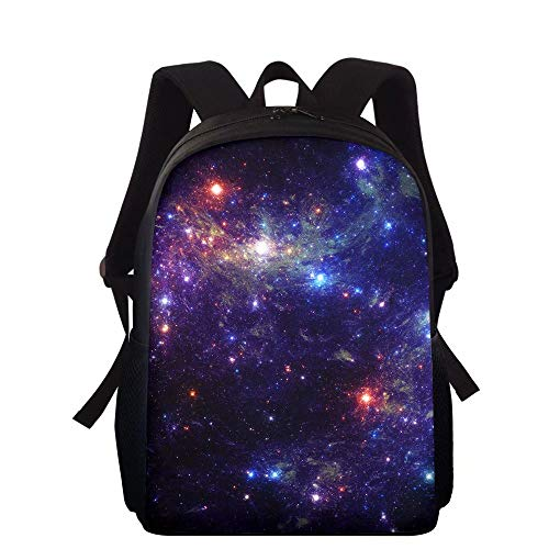 NDISTIN Sky Full Of Stars Design Backpack Lightweight Teenage Children Kids School Bags Best Gift Girls Boys With Handle Durable High Capacity Bookbag Sports Rucksack Satchel Dress Up Waterproof