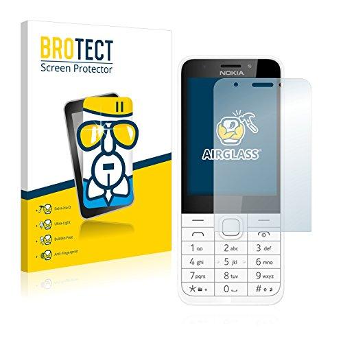 BROTECT Panzerglas Schutzfolie kompatibel mit Nokia 230 - AirGlass, extrem Kratzfest, Anti-Fingerprint, Ultra-transparent