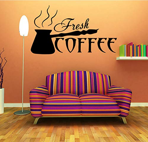 Kaffeetasse küche wandaufkleber cafe vinyl kunst aufkleber bar cafe schlafzimmer dekoration wandaufkleber diy wandaufkleber 58x33cm