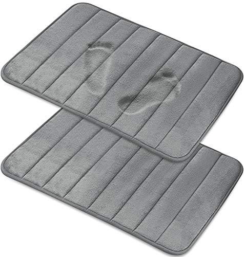 Magnificent [2-Pack] Memory Foam Bath Mat - Non-Slip Back, Coral Fleece Softness, Highly Absorbent...