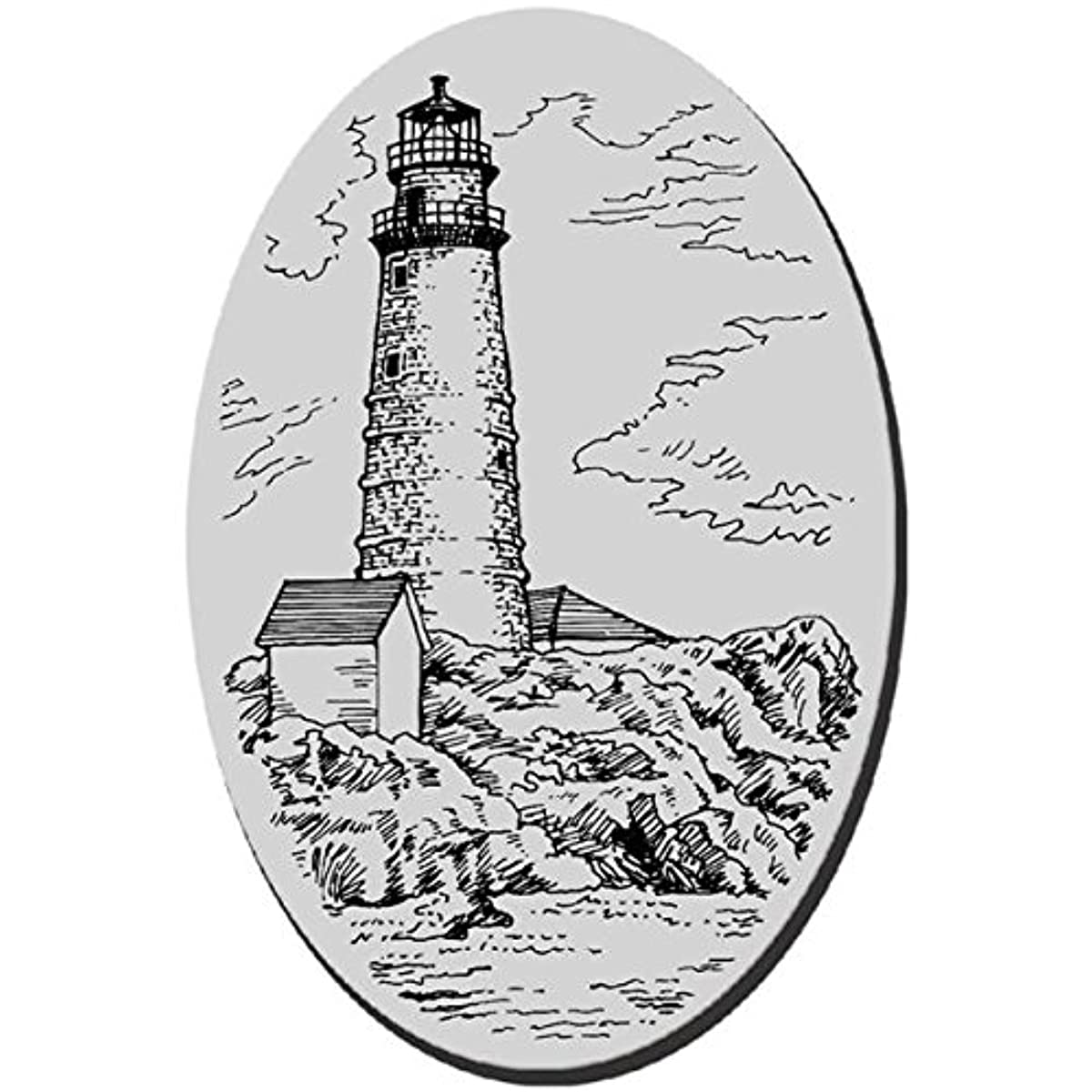 STAMPENDOUS Cling Rubber Stamp, 3.5 by 4-Inch, Boston Light House