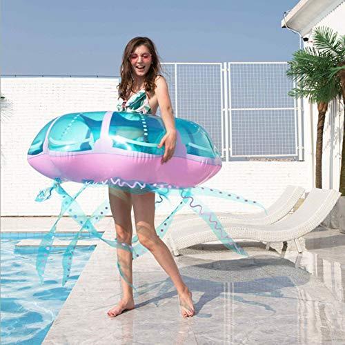 JTYX Flotador Gigante de Piscina de Medusas para Adultos Balsas inflables Creativas de Gran tamaño Balsas de Piscina reclinable Divertido Verano Piscina o Juguete de Playa