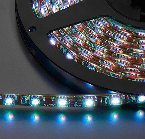 Monacor 38.4700 Flexibles à LEDs, 24 V courant continue Rouge/Vert/Bleu