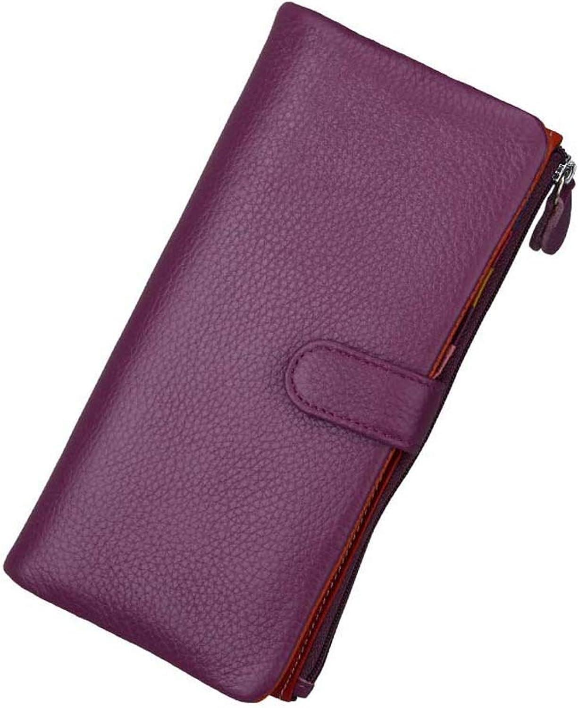 WngLei Damen Leder Geldbörse Multi-Card Kartenpaket Multi-Card Multi-Card Multi-Card Wallet Clutch Bag (Farbe   lila) B07L9431QH a833f6