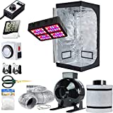 TopoLite Grow Tent Setup Complete Kit LED 600W Grow Light + 4' Filter Kit + 32'x32'x63' Dark Room + Hydroponic Indoor Plants Growing System Accessories (32'x32'x63' Kit)