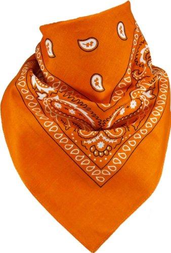 Harrys-Collection Unisex Bandana Bindetuch 100% Baumwolle (1 er 6 er oder 12 er Pack), Farbe:orange