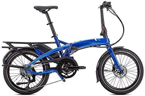 Tern Cmp1876 Vouwfiets Vektron Q9 fiets E-Bike 9 versnellingen blauw aluminium 25 km/u derailleur Shimano 36 V 250 W, CB19EHPC09HLRSL23, zwart-zilver, M