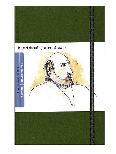 Hand Book Journal Co. Travelogue Drawing Journals 5 1/2 in. x 8 1/4 in. landscape cadmium green [PACK OF 2 ]