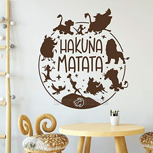 ASFGA Cartoon Film Löwe Erde Wandtattoos Filmfiguren inspiriert Vinyl Wandaufkleber Kinderzimmer Babyzimmer für Kindergarten Kinderzimmer Dekoration Tapete 30X34CM