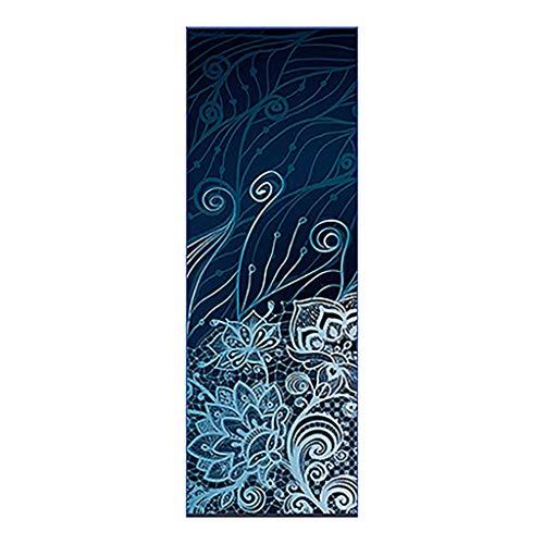 MOTOCO Yoga Handtuch Drucken Fitnesstuch - rutschfest, Leicht, Recyceltes, Saugfähiges Mikrofaser Yogahandtuch für Hot Yoga Bikram Ashtanga und Pilates(183X66CM.B)