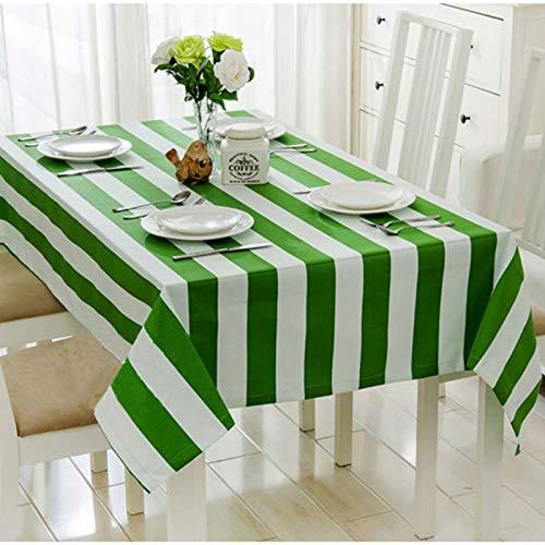 sans_marque Mantel redondo bordado decoración elegante algodón lino paño de mesa con borlas, a prueba de polvo, lavable, cubierta de mesa de cocina para mesa de comedor 140 x 180 cm