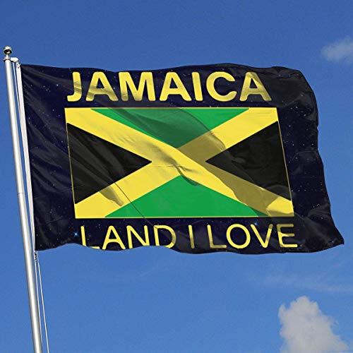Zudrold Outdoor-Flaggen Jamaika Land Ich Liebe Flagge für Sportfan Fußball Basketball Baseball Hockey