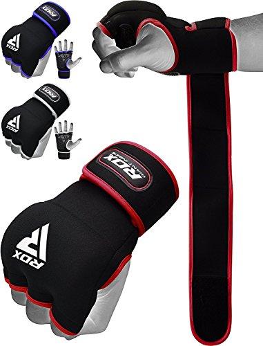 RDX Innenhandschuhe MMA Boxbandagen Boxen Elastisch Handschuhe Daumenschlaufe (MEHRWEG)