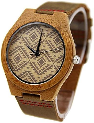 SHIGUANG La nouvelle montre homme   bois occasionnel   naturel d'affaires   bambou   montre-bracelet   cuir sangle   cadeau   portables   accessoires , 04 , Hommes
