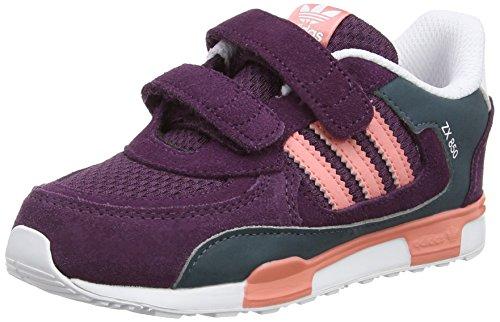 adidas ZX 850 CF I, Chaussures Bébé Marche bébé Fille - Violet - Violett (Merlot F15-St/Peach Pink F15-St/Ftwr White), 27