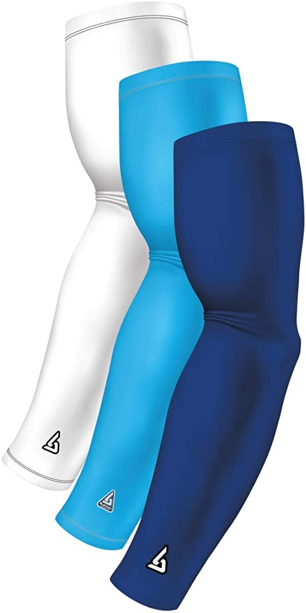 B-Driven Sports Pro-Fit Athletic Compression Arm Sleeves 3-Sleeve Variety Pack Team Color Combinations Available in 40