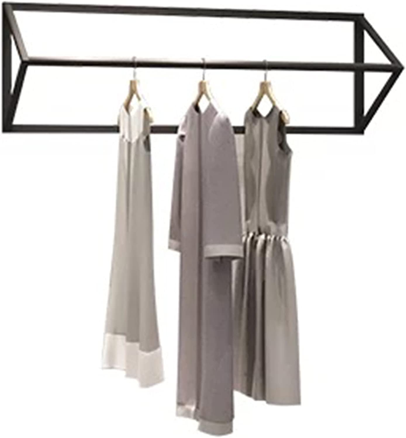 Wall-Mounted Clothing Display shopping Rack Clothes De Gifts Rail