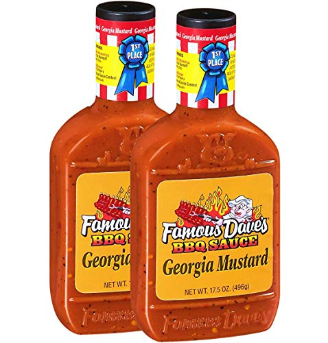 Famous Dave's Georgia Mustard BBQ Sauce, 17.5 Ounce, Pack of 2