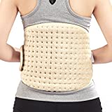 yuwell Electrical Heating Belt Heat Pad Wrap Adjustable Waist Lumbar Lower Back Support