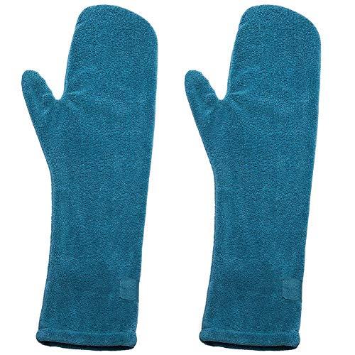 JPYH Guantes de Limpieza de Toallas, Toalla de Microfibra Suave para Mascotas, Guantes Secos superabsorbentes, Ideal para secar Pieles de pie de Caballo de Perro