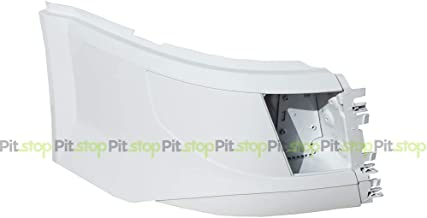 Volvo VNL 2016-UP Painted White Corner Bumper Right Passenger Side WITH Fog Light Cut-out 85148284