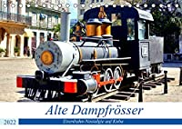 Alte Dampfroesser - Eisenbahn-Nostalgie auf Kuba (Tischkalender 2022 DIN A5 quer): Historische Dampflokomotiven auf Kuba (Monatskalender, 14 Seiten )