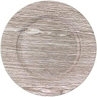 Koyal Wholesale 424677 Faux Wood Charger Plates, 13