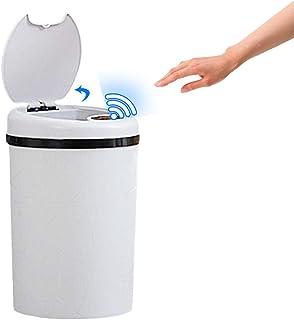 Bote de basura tipo tirón de inducción inteligente, cubo de basura completamente automático eléctrico 12L con tapa para sala de estar Cocina y baño del dormitorio