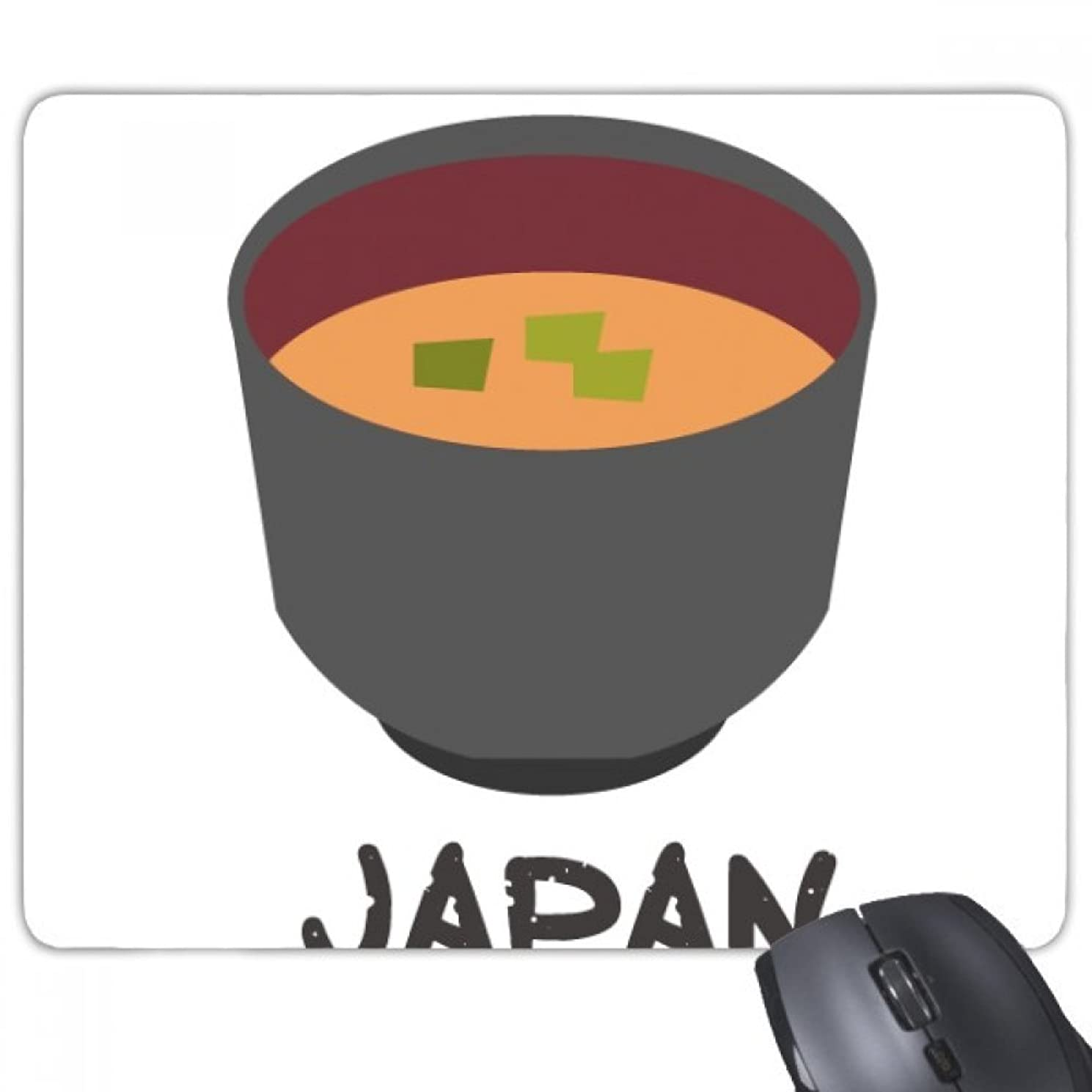 Traditional Japanese Tasty Miso Soup Mouse Pad Non-Slip Rubber Mousepad Game Office