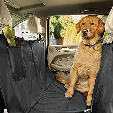 Gorilla Grip Original Premium Slip-Resistant Pet Car Seat Protector for Pets, Durable Protectors for Cars, Truck, SUV, Underside Grip, Waterproof, Seat Belt Openings, Pocket, X-Large (Hammock: Black)