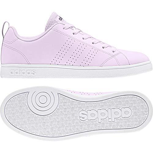 adidas Vs Advantage Cl W, Scarpe da Tennis Donna, Rosa (Aerpnk/Aerpnk/Ftwwht 000), 44 EU