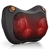 HAUEA Back Massager Shiatsu Neck Massager with Heat Deep Tissue Kneading Massage Pillow for Shoulder,Full Body Muscle,Lower Back Relaxation Gifts at Home, Office and Car