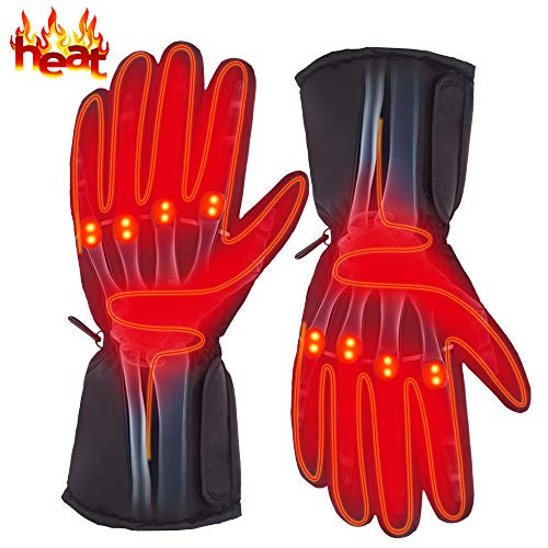Autocastle Rechargeable Electric Battery Heated Gloves for Men and Women,Outdoor Indoor Battery...