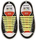 Homar No Tie Lacci per scarpe per bambini e adulti - Impermeabile in silicone elastico piatto Laces Athletic scarpa da corsa con multicolore per Scarpe Sneakerboots bordo e scarpe casual (Adult Size Yellow)