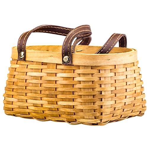 ZNBJJWCP Cesta decorativa de almacenamiento tejida a mano, cesta de frutas, cesta de pícnic, cesta decorativa de boda (tamaño grande: