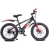 Safety Sport Bicicleta para Niños Bicicleta De Montaña 16 18 20 Pulgadas Marco De Acero De Una Sola Velocidad con Soporte para Niños De 5 A 14 Años Edición Cruiser para Niños Y Niñas,18'