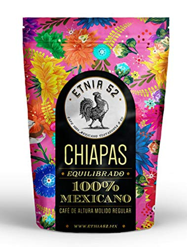 Etnia 52 - Chiapas (Intenso), Mexican Whole Bean Coffee, 1 lb, Kosher Certified (KMD), Made in Mexico, Includes Ebook Recipe Link