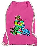 Hariz - Bolsa de deporte, diseño de dinosaurios con dragón, rosa (Rosa) - AchterGeburtstag06-WM110-18-1