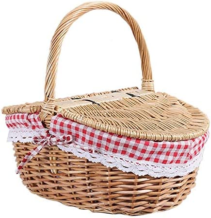 XUXUWA WH Low price Wicker Basket New Orleans Mall Willow Picnic Hamper Bas Shopping