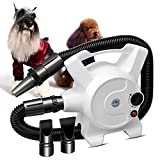 Mein LAY Adjustable Speed High Power Pet Hair Dryer, 3.2HP/2400W Stepless Dog Grooming Dryer with Heating Function