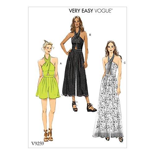 Vogue Mustern Vogue 9259A5, Schnittmuster Strampler und Overall, Größen 6–14, Mehrfarbig