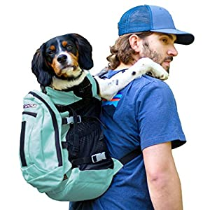 K9 Sport Sack | Dog Carrier Backpack for Small and Medium Pets | Front Facing Adjustable Dog Backpack Carrier | Fully Ventilated | Veterinarian Approved (Large, Air Plus – Summer Mint)