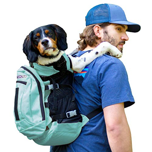 K9 Sport Sack | Dog Carrier Backpack for Small and Medium Pets | Front Facing Adjustable Dog Backpack Carrier | Fully Ventilated | Veterinarian Approved (Large, Air Plus - Summer Mint)