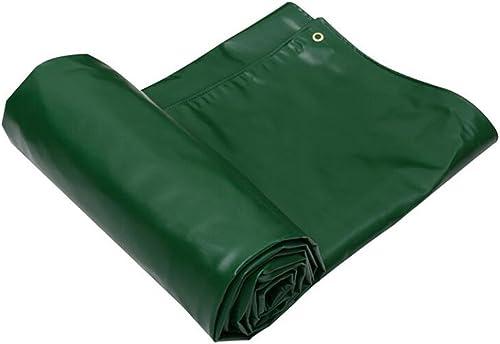YUJIE Bache Imperméable Lourde Anti-UV 100% Imperméable à l'eau Et à La Poussière - Polyéthylène Haute Densité Tissé 650 G   M2, épaisseur 0,7 Mm, Différentes Tailles (Vert)