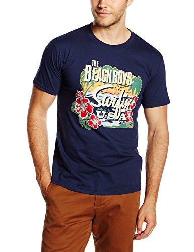 The Beach Boys - T-Shirt - Manches Courtes Homme, Bleu - Bleu (marine), X-Large
