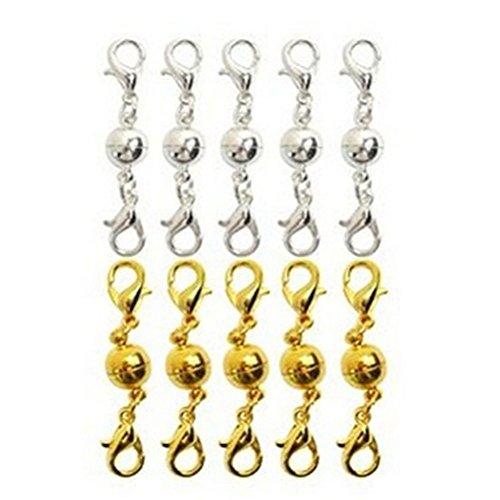 ULTNICE Magnet Verschlüsse Magnetschließen für Schmuck Halsketten Armband DIY 10 Stück
